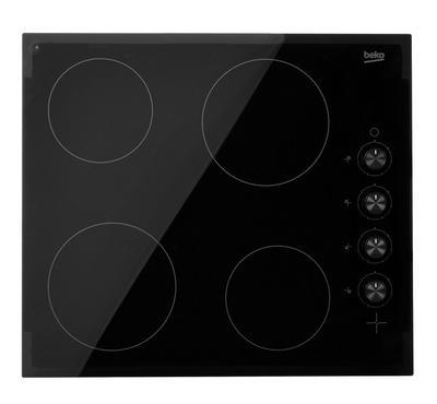 بيكو موقد كهرباء داخلي مسطح, سيراميك, 4 عيون, زجاج أسود
