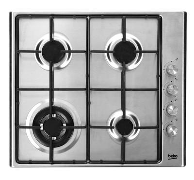 Beko Built In Hobs - 4 Gas Hobs - Stainless Steel - Electronic Ignition - Full Safety