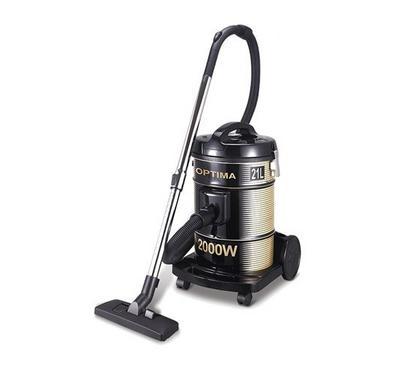 Optima 21.0L Vacuum Cleaner Drum Type Steel 2200W Black