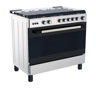 Midea Gas Cooking Range, 90x60cm, Full Safety, Stainless Steel