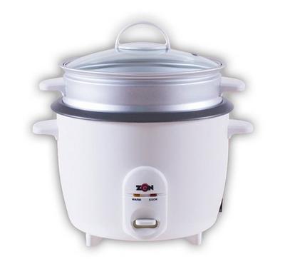 Zen 1.5L Rice Cooker Glass Lid 500W White