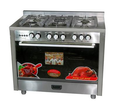 Unionaire 100x60cm Gas Cooking Range Full Safety Stainless