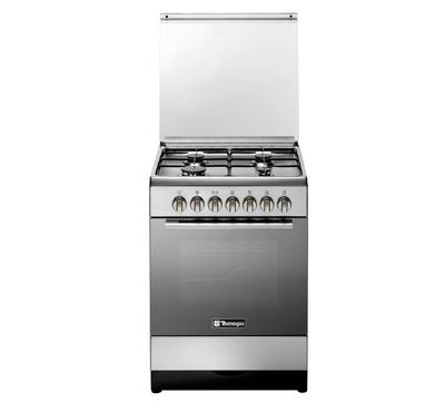 Tecnogas 60x60cm Gas Cooking Range Maximum Safety, Stainless