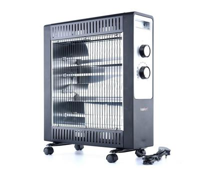Koolen Quartz Heater, 4 Tubes, 2200W, Black & Silver