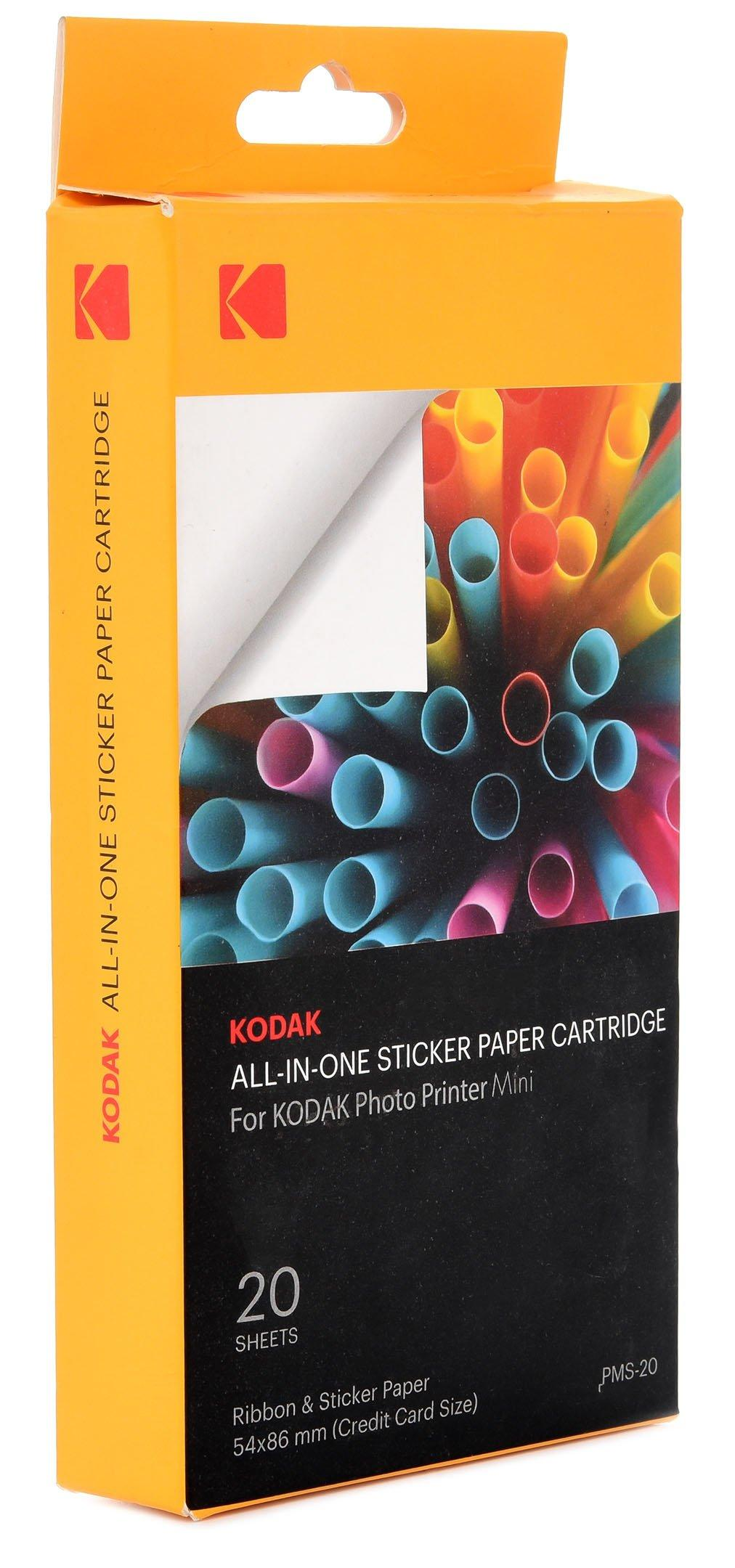 Kodak Mini Photo Printer AIO Cartridge 20 Sheets Pack