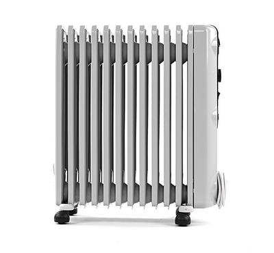Delonghi Oil Filled Radiator, 12 fins, 230-240V 50Hz, White