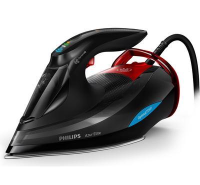 Philips Steam Iron, Azure Elite, 3000W, Advance SteamGlide, Black