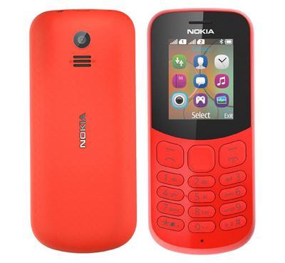 NOKIA 130 (2017), Dual Sim, 2.5G, 1.8 inch, 4 MB, Red