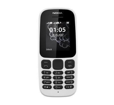 NOKIA 105 (2017), 4 MB, White