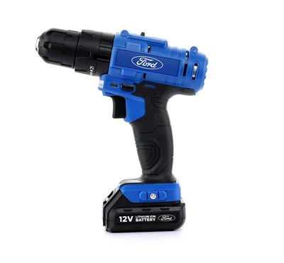 Ford 12V Cordless Impact Drill  2 Li-ion Batteries + Charger Included