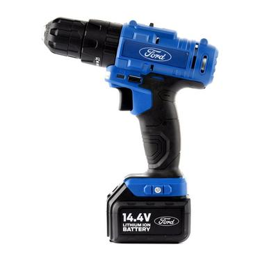 Ford 14V Cordless Impact Drill  2 Li-ion Batteries + Charger Included