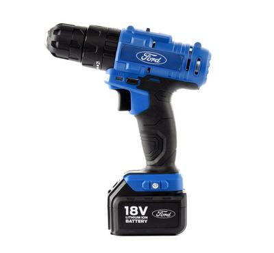 Ford 18V Cordless Impact Drill  2 Li-ion Batteries + Charger Included