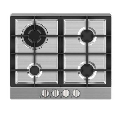 Midea 60cm Built-in Gas Hob, 4 Gas Burners, Stainless Steel