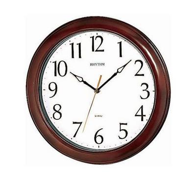 Rhythm Qtz Wall Clock Wooden Case