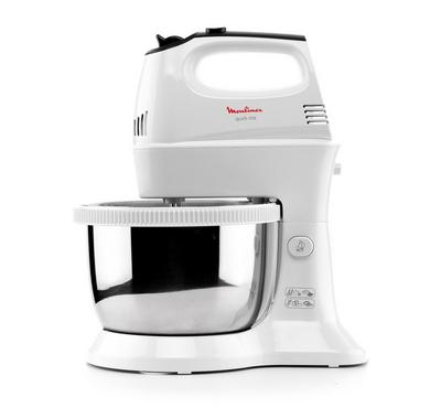 Moulinex Hand Mixer Quick Mix SS, 300W,  3.5Ltr, Speed 5+Turbo, White.