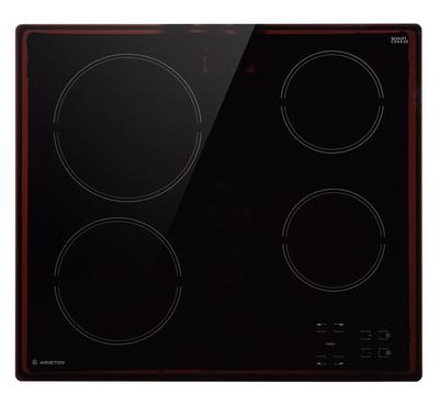 Ariston Built in 60cm Ceramic Hob, Touch-Control, 4 No of Zones, Residual heat indicator, Black