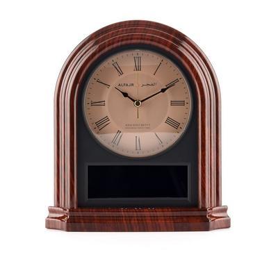 ساعة طاولة عقارب / رقمية متزامنة مزودة بخمسة أصوات أذان مختلفة