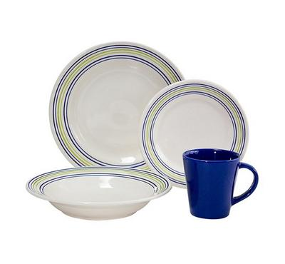 Oxford Dinner Set Of 16Pcs, Porcelain, Serve 4 Persons
