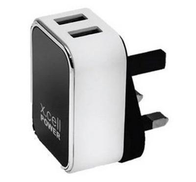 XL-HC-224-M-- Xcell Dual USB Home Charger UK Plug