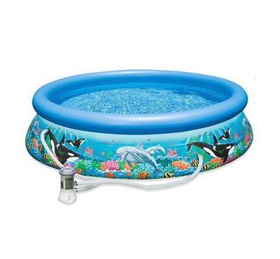 حوض سباحة سهل الطي والتركيب بسعة 10 قدم × 30 قدم