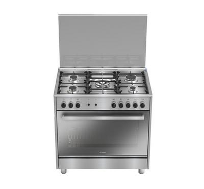 Candy 90x60cm Freestanding Gas Cooker Inox