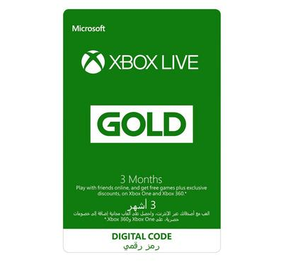 Microsoft  Xbox LIVE 3-month, Saudi Store, Digital Code, Delivery By Email