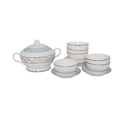 La Mesa Soup Tureen Set Of 14pcs
