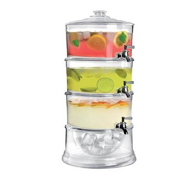 خزان عصير اكريليك 3 طبقات