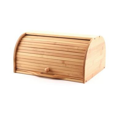 صندوق خيزران لحفظ الخبز مع لوح متحرك