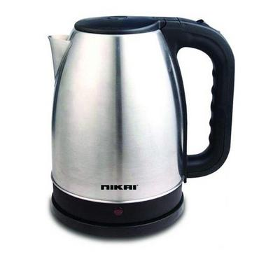 NIkai 1.7L Stainless Steel Kettle Silver
