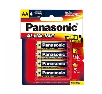 Panasonic 6AA Size Alkaline Battery 1.5V Pack of 4 Plus 2