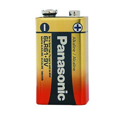 Panasonic 9V Size Alkaline Battery 9V Pack of 1, Gold