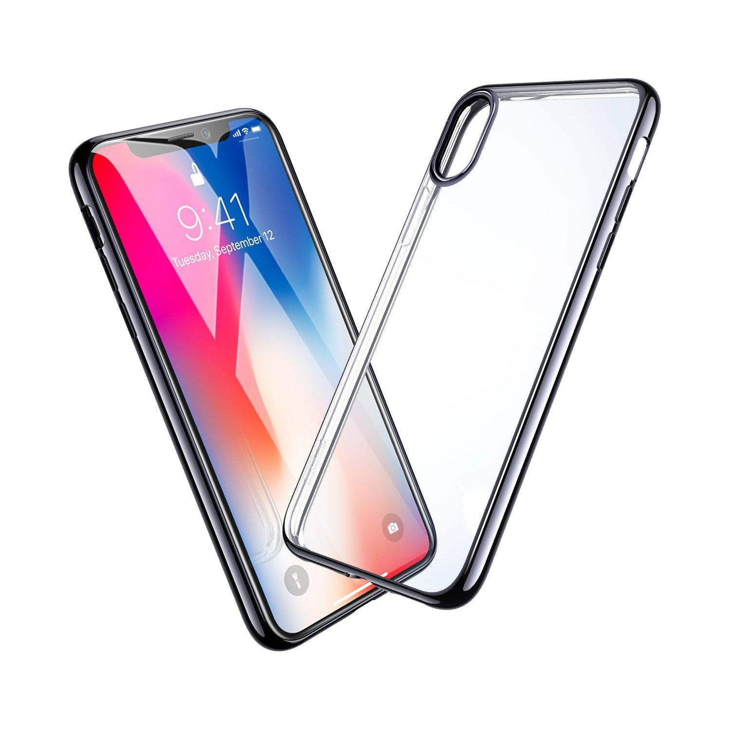 Hyphen Clear Black Frame Case, iPhone X