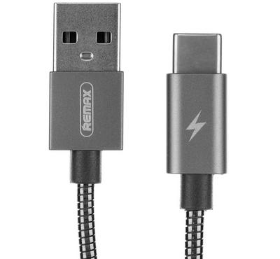 Remax Data and Charging Cable, All USB Type C, Silver