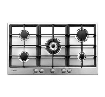 Candy 90cm Frontal Gas Built-in Hob Inox