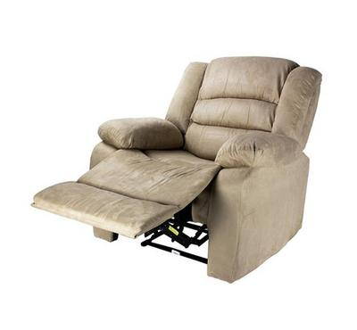 Recliner Chair With Full Push Back, Beige Color