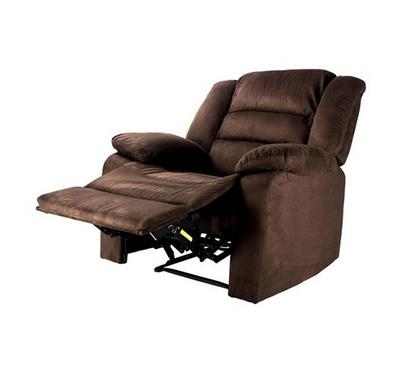 Recliner Chair With Full Push Back, Coffee Color