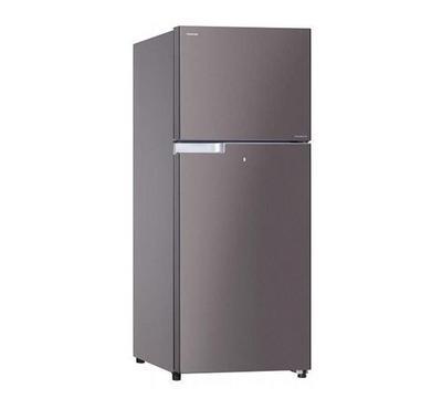 Toshiba 400 L Double Door Refrigerator Dark Silver