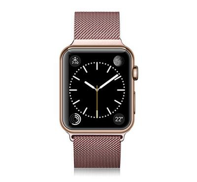 Casetify Apple Watch Band Stainless Steel, 3Rd Series 38MM, Aluminum Gold
