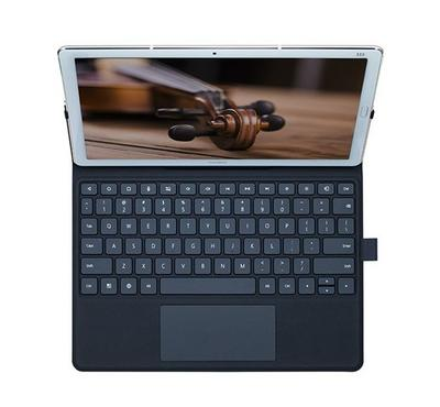 Amork Huawei M5 Two In one Tablet Keyboard and Leather Case, Dark Grey