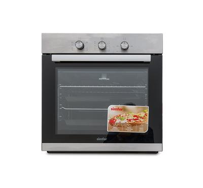 Simfer Built-in Gas Oven with Grill and Fan Stainless Steel