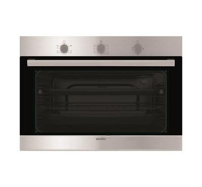 Simfer Built-in 90cm Gas Oven with Grill and Fan Stainless Steel