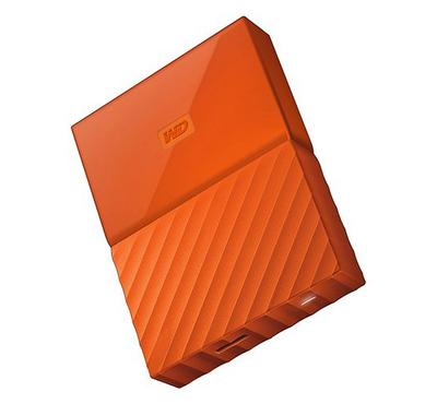 WD 4TB My Passport Portable Hard Drive, Orange