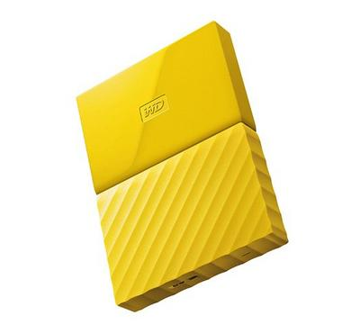 WD 1TB My Passport Portable Hard Drive, Yellow