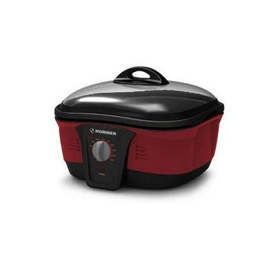 Hommer 1500W 5L 8-in-1 Cooker Multi-Cooker Red
