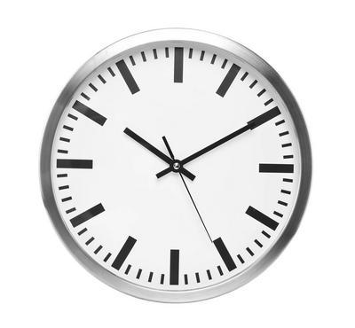 Class Home 12 inch Quartz Wall Clock Metal, White