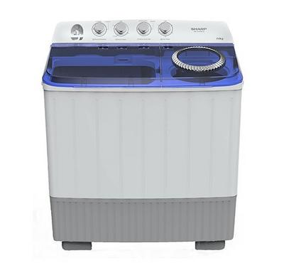 Sharp Washing Machine, 12 kg Twin Tub, Plastic Body, White