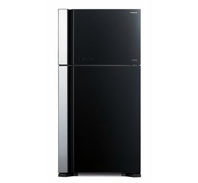 Hitachi Fridge, 710 L, Top Mount, Inverter, Glass Door, Black