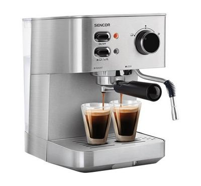 Sencor 1.5L Espresso Machine 15Bar 1050W Stainless Steel