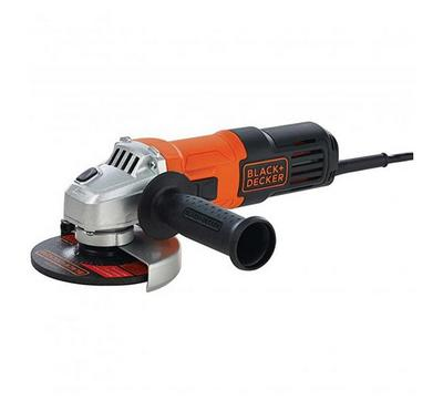 Black Plus Decker, 115mm Angle Grinder 650W, Black/Orange
